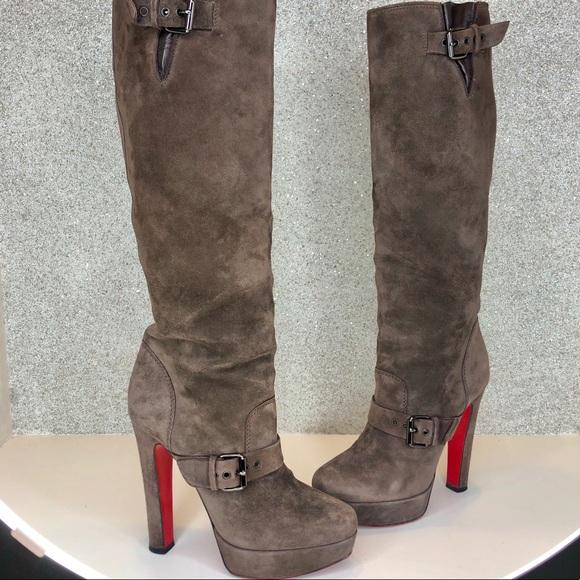 45de7641c65b Christian Louboutin Shoes - Louboutin Harletty Suede Knee High Boots 39.5